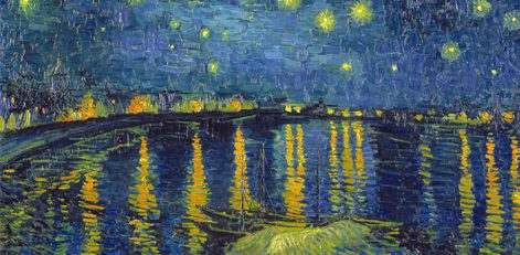 Artwork by Vincent Van Gogh - Starry Night Over the Rhone